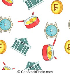 Holiday in Switzerland pattern, cartoon style - Holiday in...