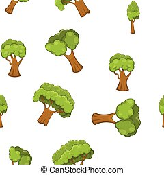 Arboreal plant pattern, cartoon style - Arboreal plant...