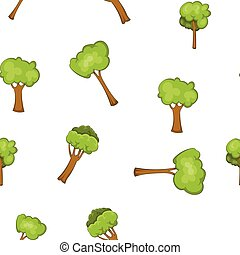 Woody plants pattern, cartoon style - Woody plants pattern....