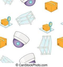 Warehouse pattern, cartoon style - Warehouse pattern....
