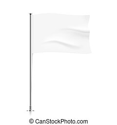 Waving white flag template.