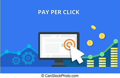 PPC advertising and conversion concept. Internet marketing...