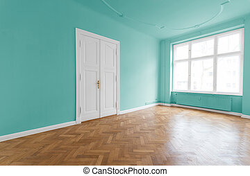 Apartment with mint green walls - Apartment room with mint...