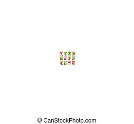 Vegetables vector square price tags set - Vegetables and...