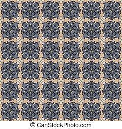 Seamless Colonial Style Damask Pattern - Seamless damask...