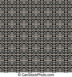 Seamless Colonial Style Damask Wallpaper Pattern - Bold...