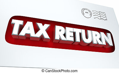 Tax Return Mailing Income Envelope 3d Illustration