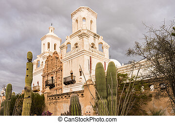 San Xavier del Bac Mission outside Tucson Arizona - Early...