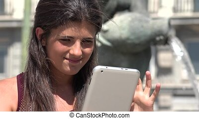 Person Using Tablet Pc