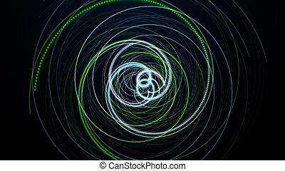 Fantastic eco particle background design illustration