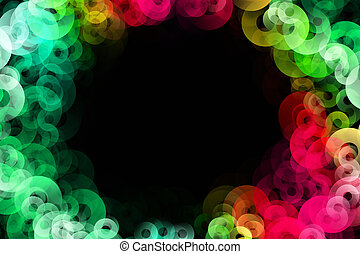 Fantastic elegant circle background design illustration