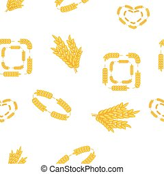 Wheat pattern, cartoon style - Wheat pattern. Cartoon...