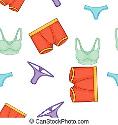 Lingerie pattern, cartoon style - Lingerie pattern. Cartoon...