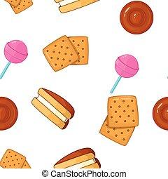 Sweet food pattern, cartoon style - Sweet food pattern....