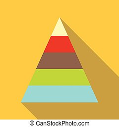 Stacked pyramid icon, cartoon style - Stacked pyramid icon....