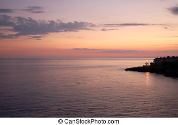 Balcon de Europa - Nerja - Colorful twilight view from the...