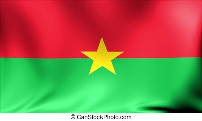 Burkina Faso national flag, new and different ripple effect....