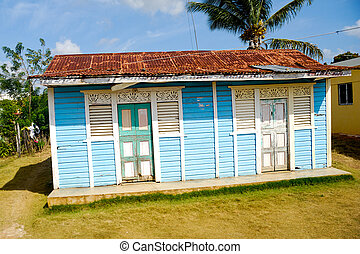Caribbean House - Classical caribbean wooden house Dominican...