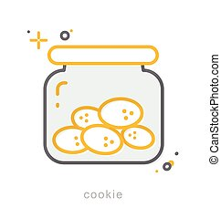 Thin line icons, Cookie - Thin line icons, Linear symbols,...