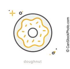 Thin line icons, Doughnut - Thin line icons, Linear symbols,...