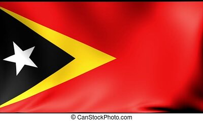 East Timor Flag. Background Seamless Looping Animation. 4K High Definition Video.