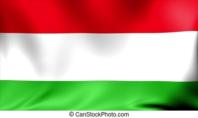 Hungary Flag. Background Seamless Looping Animation.