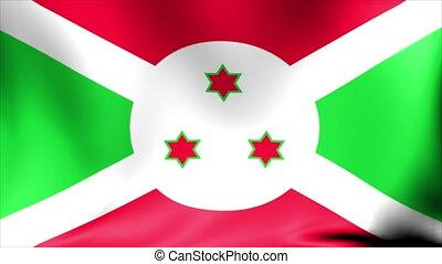 Burundi Flag. Background Seamless Looping Animation. 4K High...