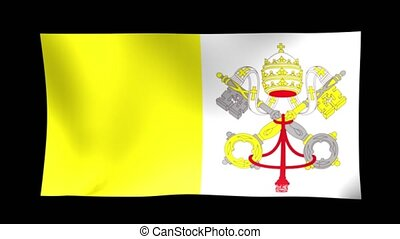 Vatican Flag. Background Seamless Looping Animation. 4K High Definition Video.