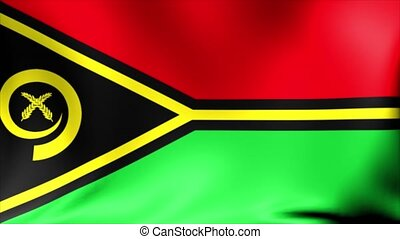 Vanuatu Flag. Background Seamless Looping Animation. 4K High Definition Video.
