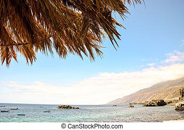 Beach Umbrella - Photo of Beach Umbrella in La Palma Canary...