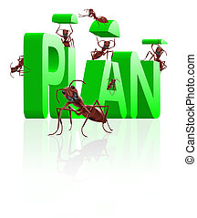 realizing executing plan - ants building word plan executing...