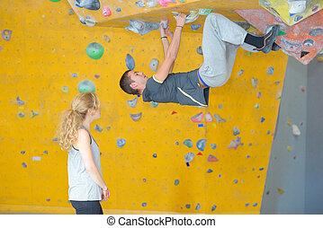 overhang bouldering skill