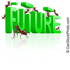 building the future innovate and create progress ants...