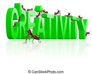 creativity create innovation and idea