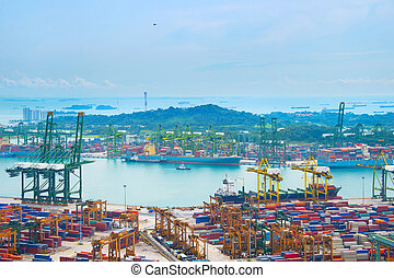 Industrial port Singapore
