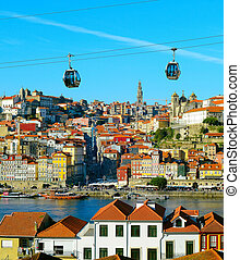 Porto tourist attractions, Portugal - View of Porto with...
