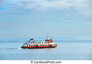 Lisbon ferry boat, Portugal - Ferry boat from Lisbon to...