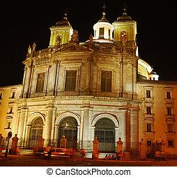 Romantic Madrid- night shot - Illuminated elegant...