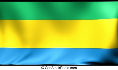Gabon Flag. Background Seamless Looping Animation. 4K High...