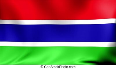 Gambia Flag. Background Seamless Looping Animation. 4K High Definition Video.