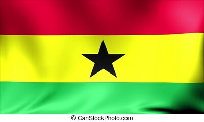 Ghana Flag. Background Seamless Looping Animation.