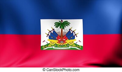 Haiti Flag. Background Seamless Looping Animation.