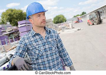 focused industrial worker
