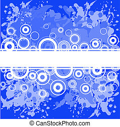Blue background with white rings