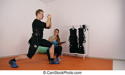 Personal ems training in the gym