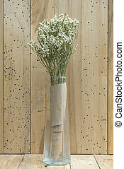 flower with wooden background
