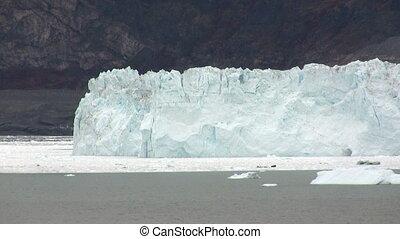 Calving glacier - The Eqi glacier in Greenland calving...