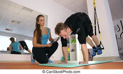 Personal ems training in the gym - Athlete doing physical...