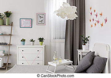 Hand made decorations - Inspiring bright bedroom with pastel...