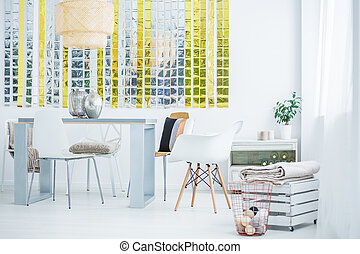 Room with dining table